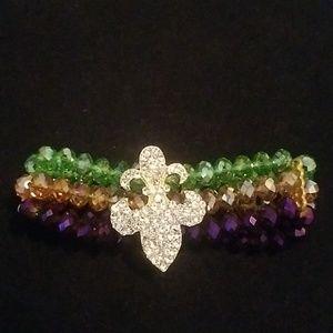 Jewelry - Mardi Gras bracelet